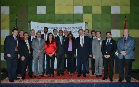 Ameroc with the US Trade Delegation at the US Embassy Reception 2014 in Rabat-Morocco
