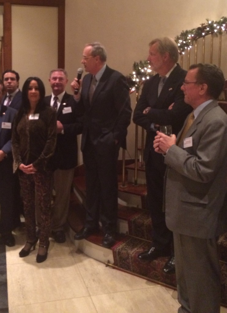 Ameroc withe the US trade delegation at the US ambassador residence Reception in Cairo-Egypt
